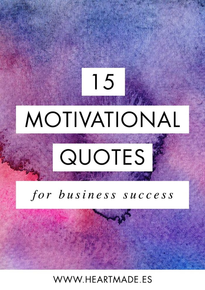 Motivational quote for business success