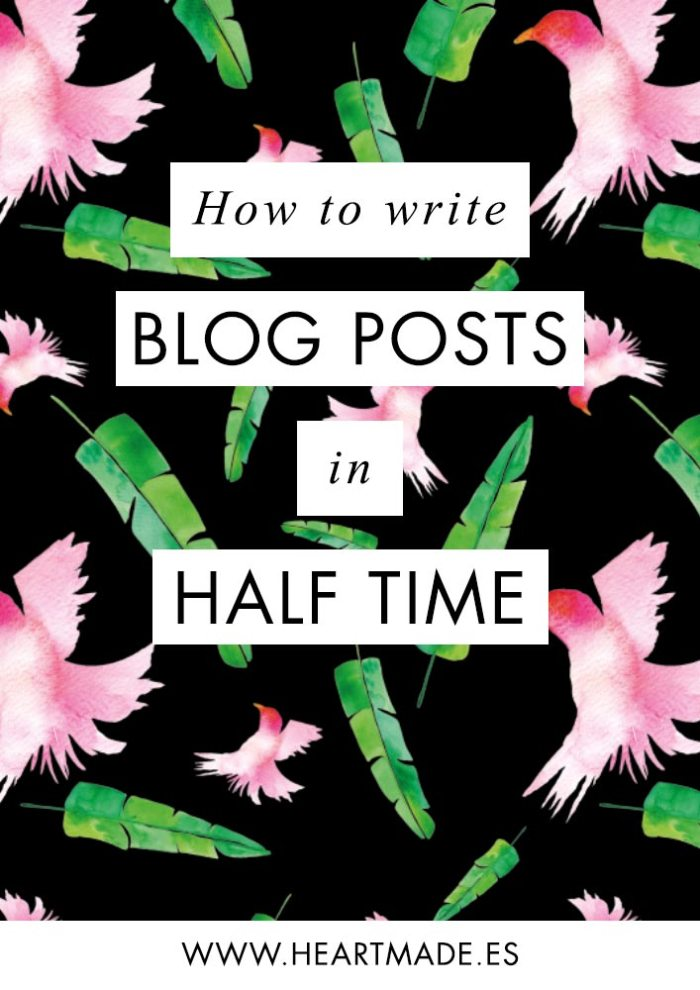 Struggling to write new posts every week? You're not alone. Try my 5 tips to write blog posts in half the time.
