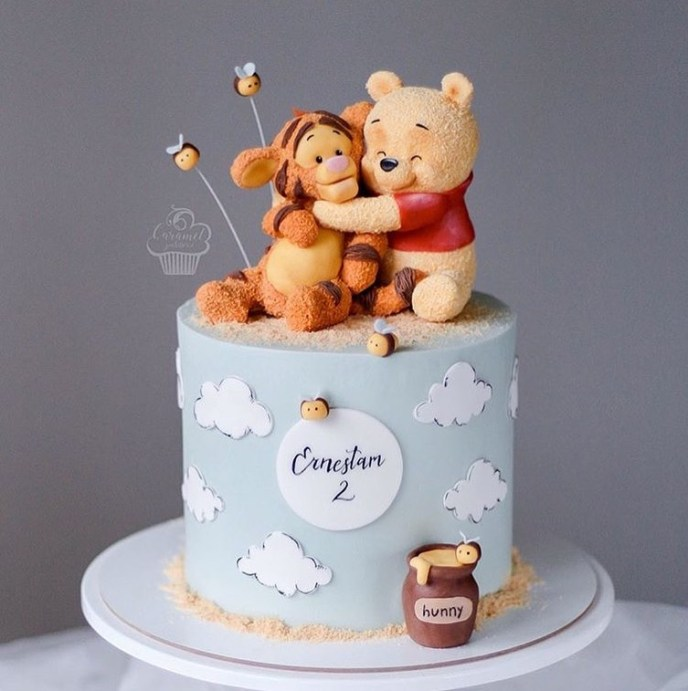 pooh and tigger clay 1 - Fondant Character Ideas