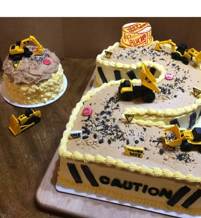 Caution construction 2 cake 2018 - Home Baked Cakes by Judy