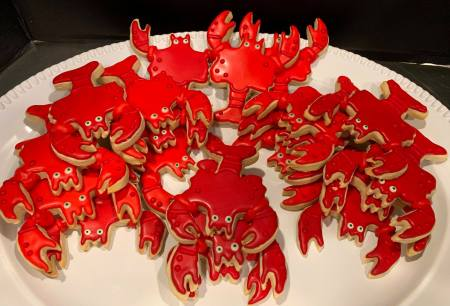 Crab cookies 2019 - Home Baked Cakes by Judy