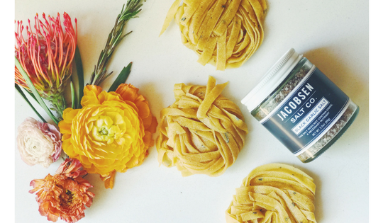Homemade Rosemary-Black Garlic Pasta