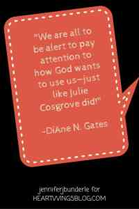 Roped author DiAne N. Gates advises us to be alert to God's timing on HeartWingsblog.com