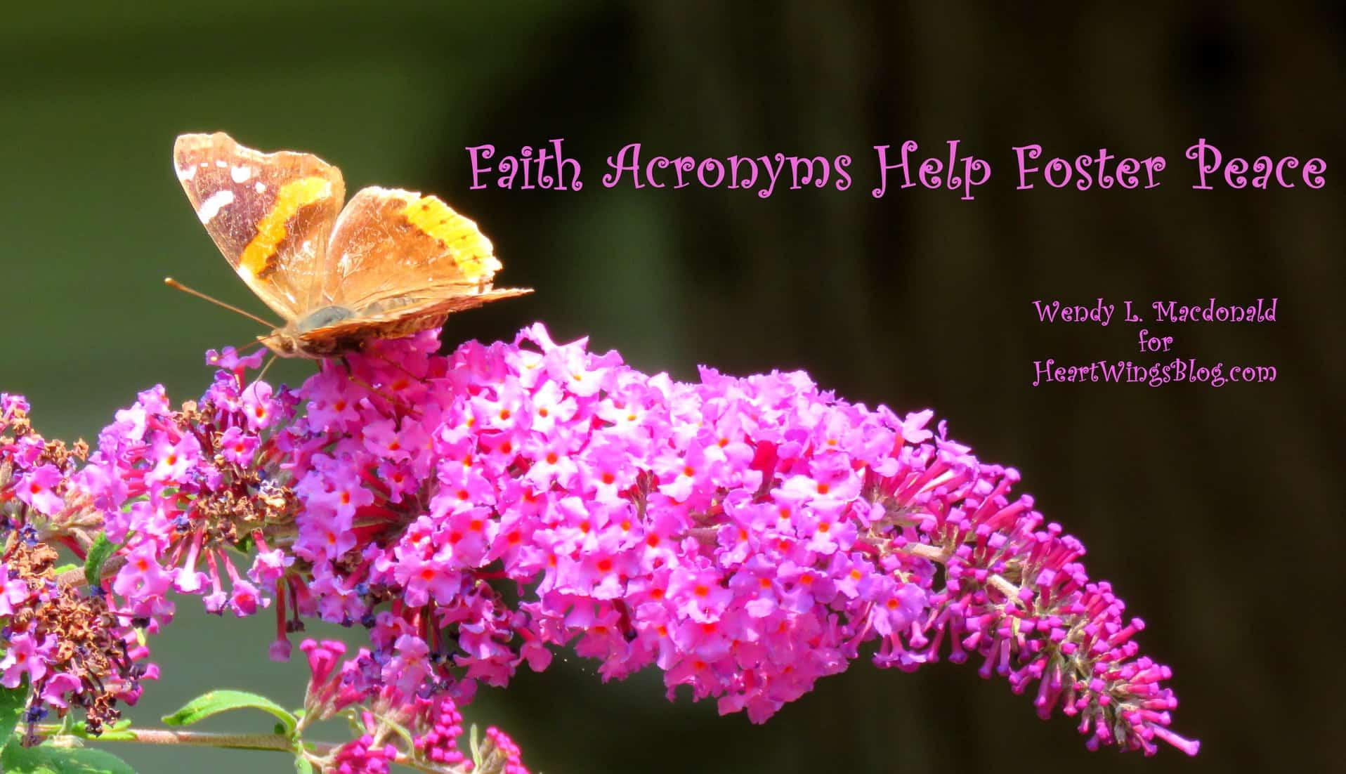 Faith Acronyms Help Foster Peace