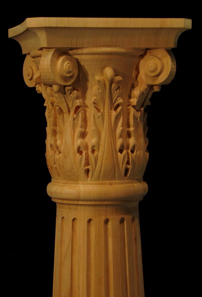 Square Wood Columns Exterior