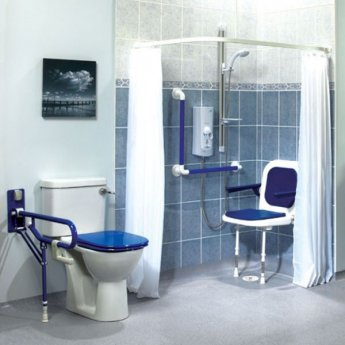 akw white shower curtain 1800mm wide x 1900mm drop