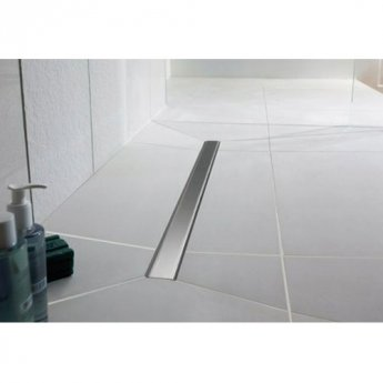 impey linear drain 800mm tile insert cover 8mm horizontal outlet