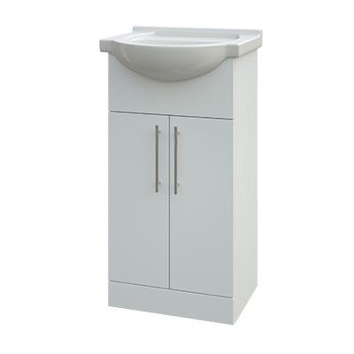 Helena White Vanity Unit Double Door With Basin Heat Things