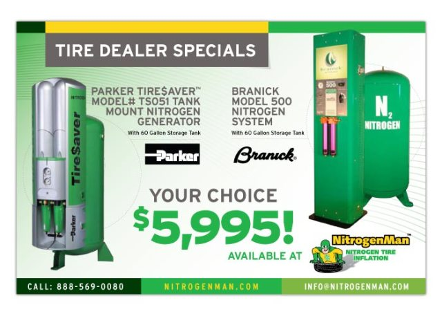 Nitrogen Man Tire Deal Specials Postcard