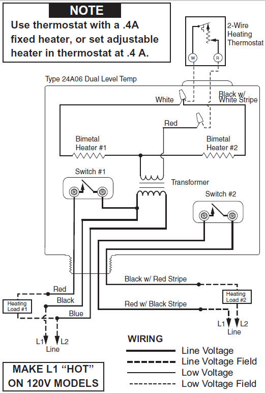 White Rodgers Dual Level Temp Relay