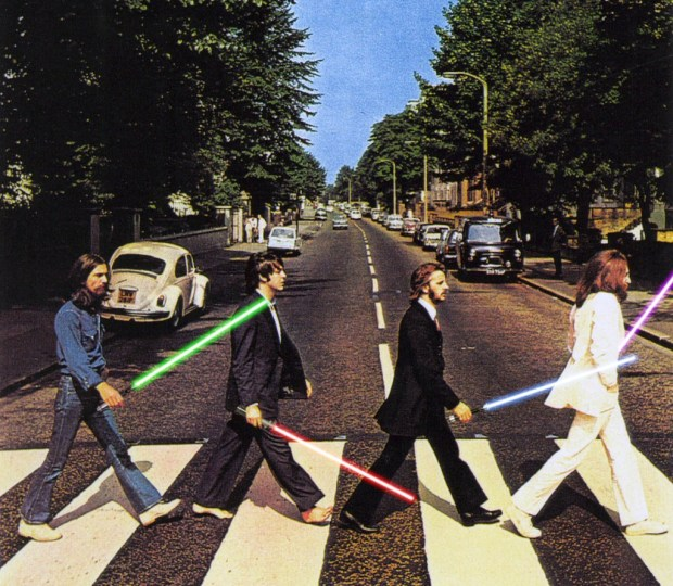 Beatles with lightsabers