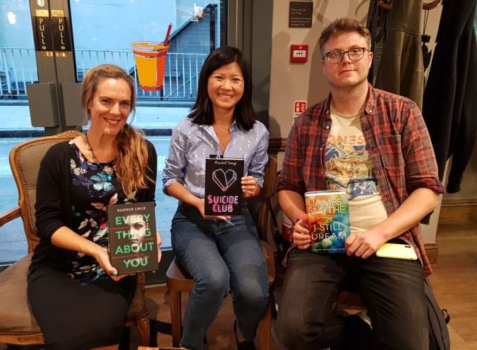 Heather Child, Rachel Heng and James Smythe at Dark societies