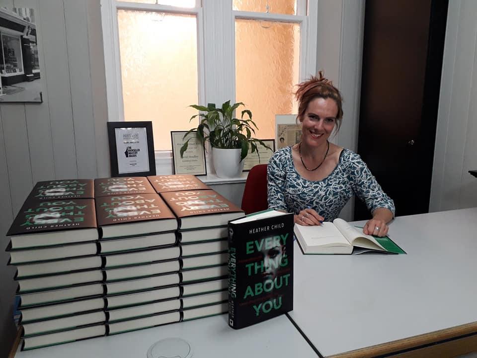 Signing books at Goldboro