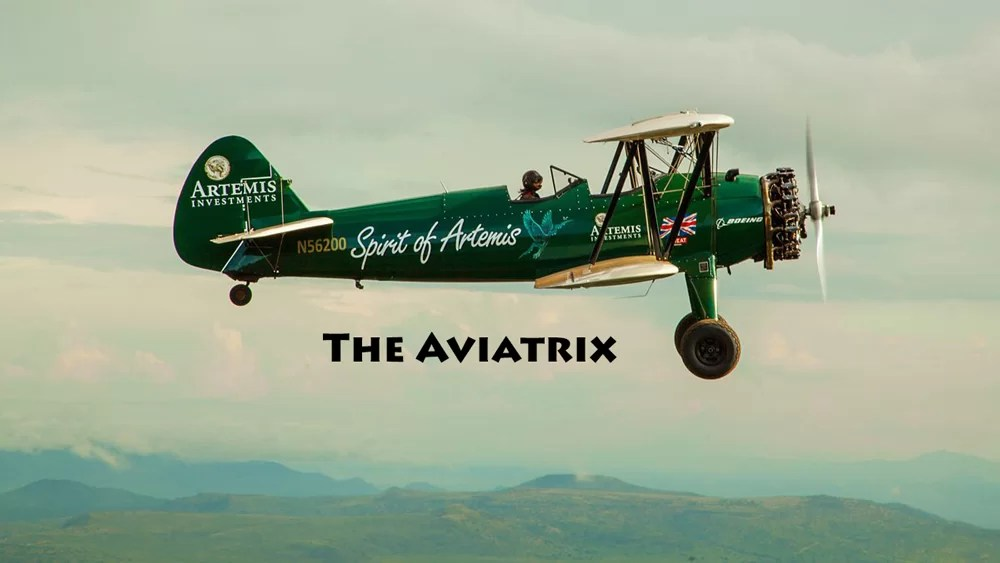 The Spirit of Artemis biplane