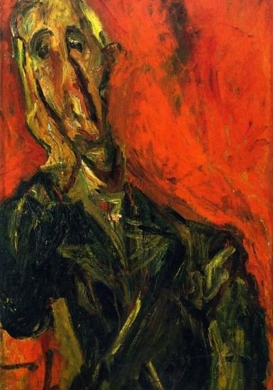 MAN IN A GREEN COAT, CHAIM SOUTINE, c. 1921