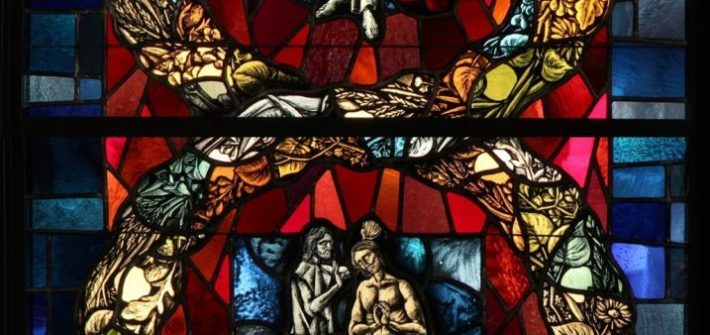 DETAIL, THE LUMINOUS MYSTERIES WILLIAM FRANK, EMIL FREI & ASSOCIATES ST. EUGENE CHURCH, OKLAHOMA CITY, OK