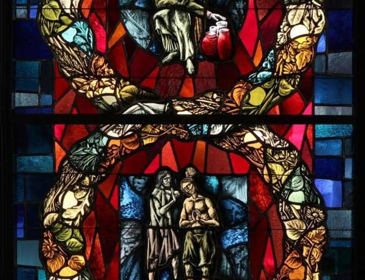 DETAIL, THE LUMINOUS MYSTERIES WILLIAM FRANK, EMIL FREI & ASSOCIATES ST. EUGENE CHURCH, OKLAHOMA CITY, OK