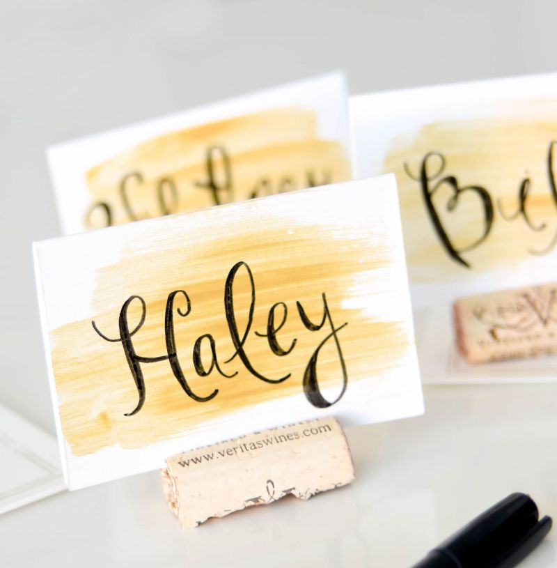 The Easiest Wedding DIY: Watercolor Place Cards