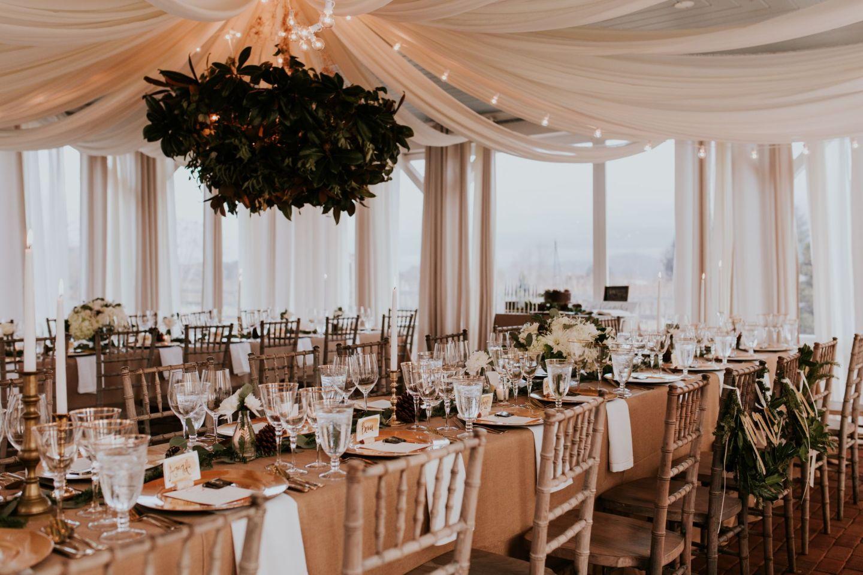 winter wedding - dinner party wedding - winter wedding flowers - winter wedding tablescape