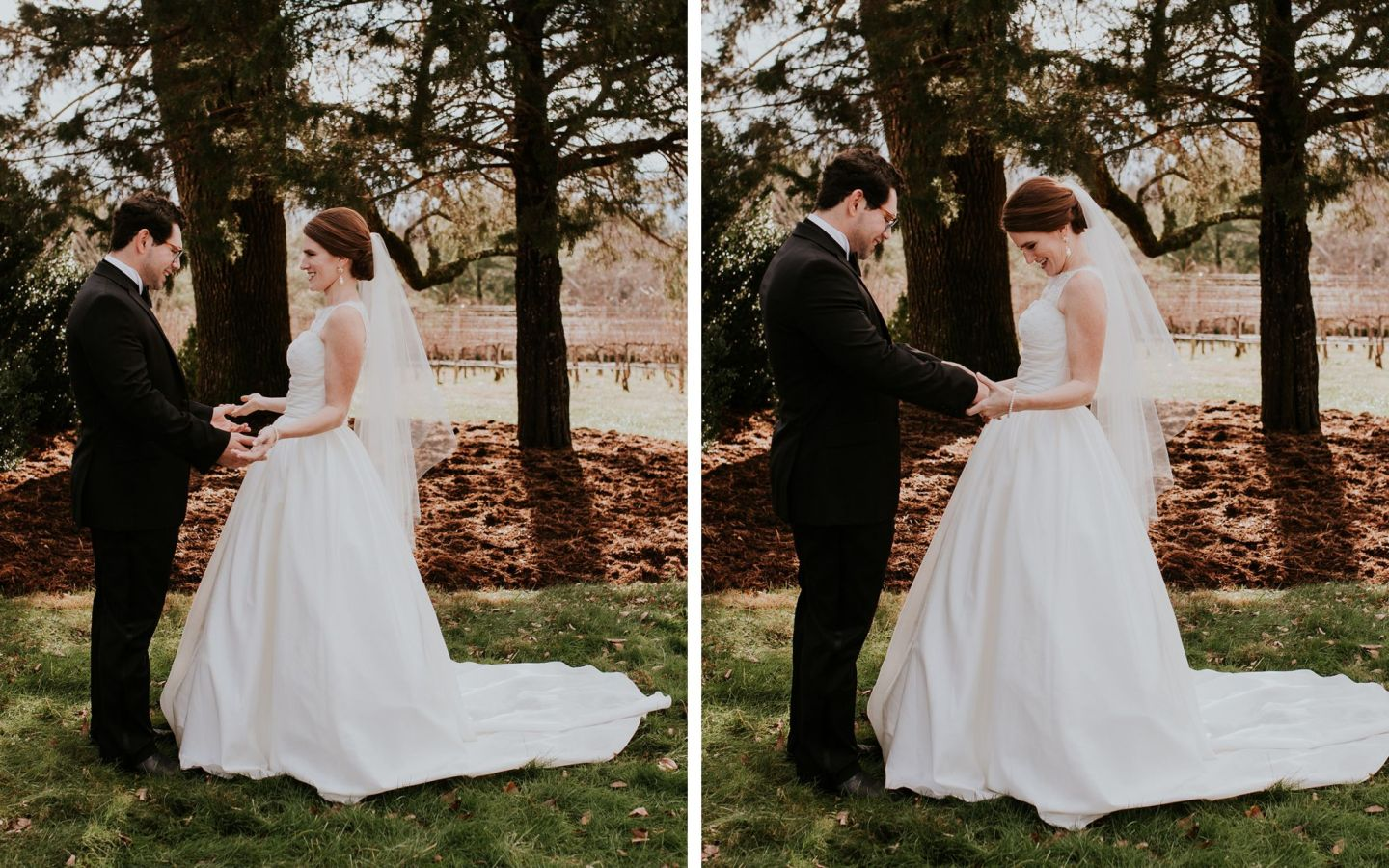 should i do a first look - charlottesville wedding - veritas first look - farmhouse at veritas wedding