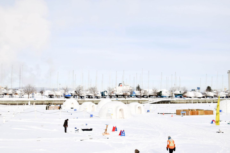winter weekend québec city - old québec - québec city ice fishing