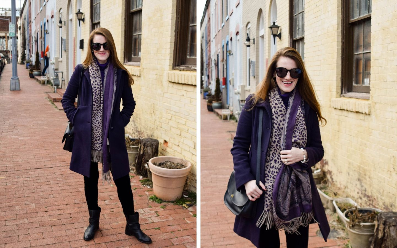 how we budget as a married couple - j.crew purple coat - parker street washington, dc