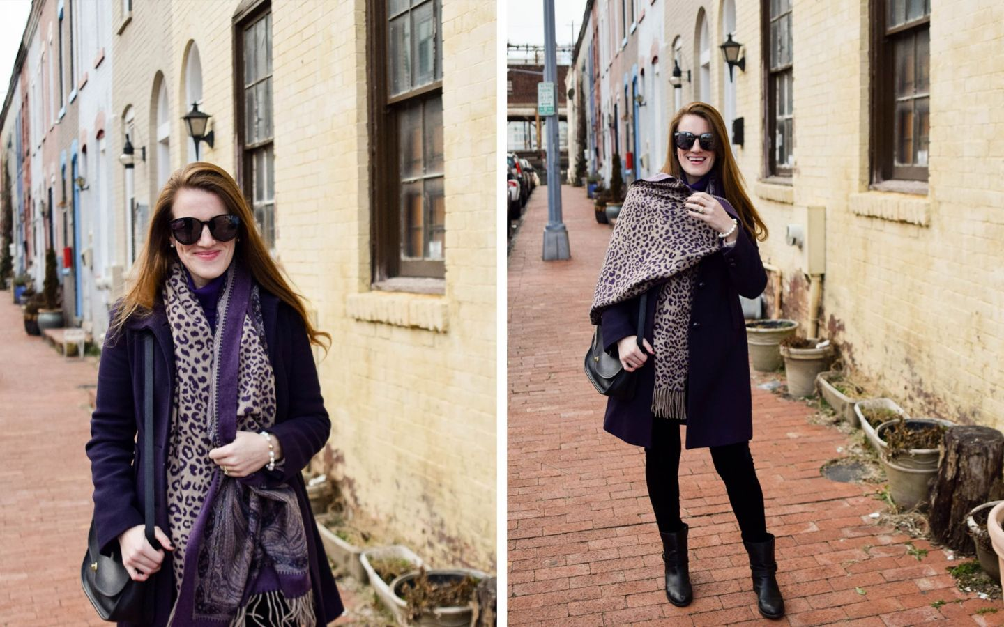 how we budget as a married couple - j.crew purple coat - parker street washington, dc