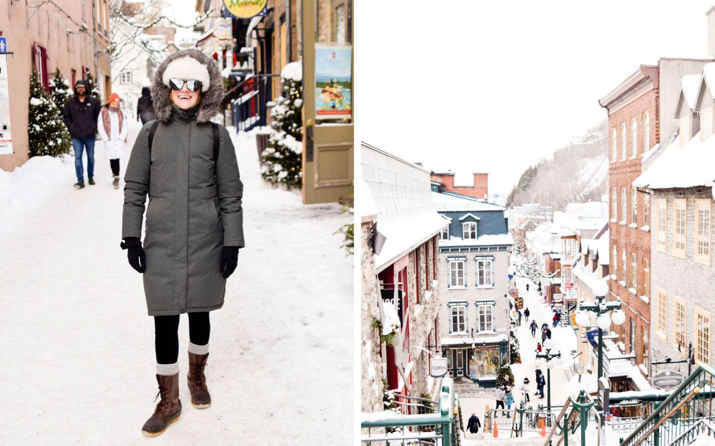 winter weekend québec city - old québec - petit champlain