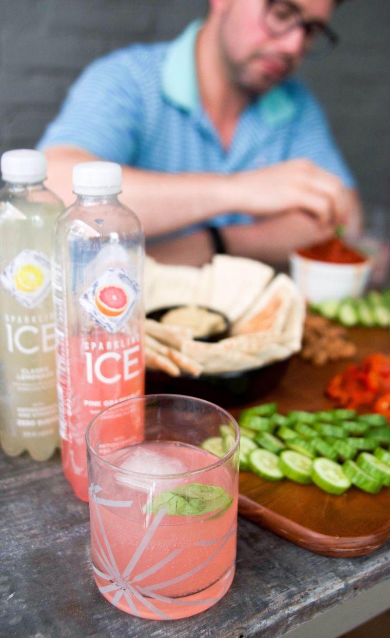 Dinner Al Fresco with Sparkling Ice Cocktails