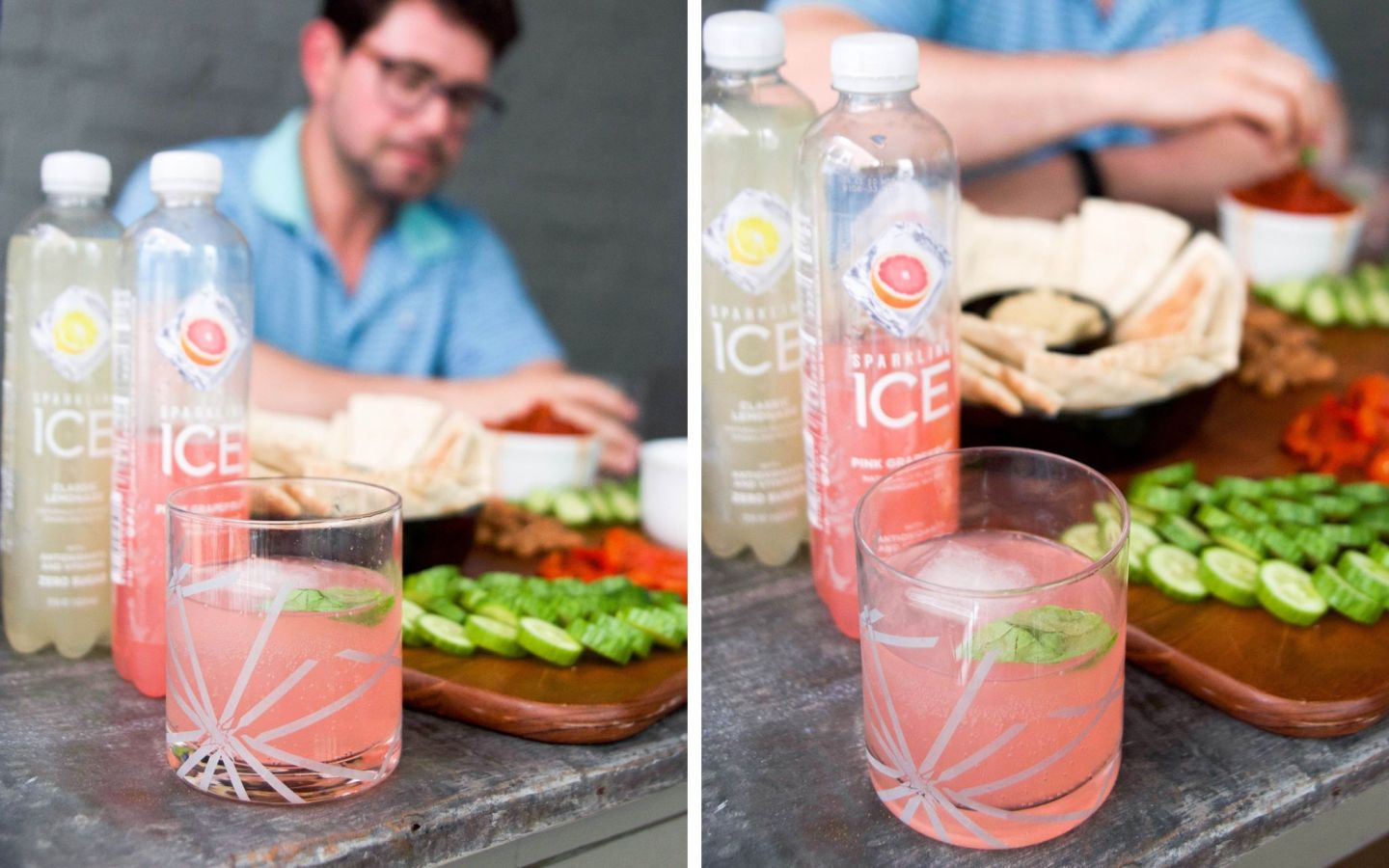 sparkling ice cocktails - summer entertaining