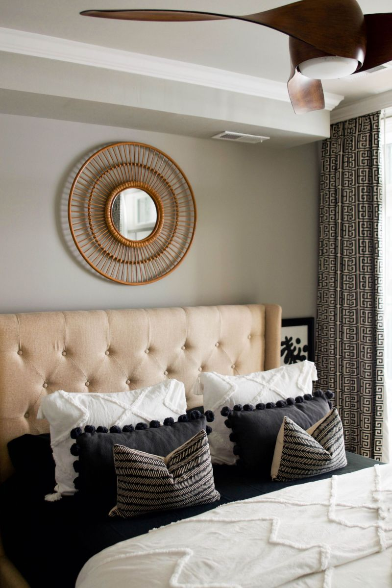 Bedroom Updates: Black and Ivory PB Teen Bedding Grows Up
