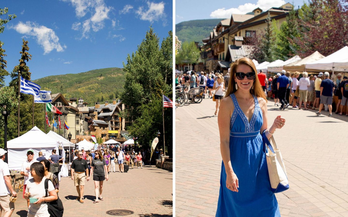 summer in vail - vail farmers market - vail village