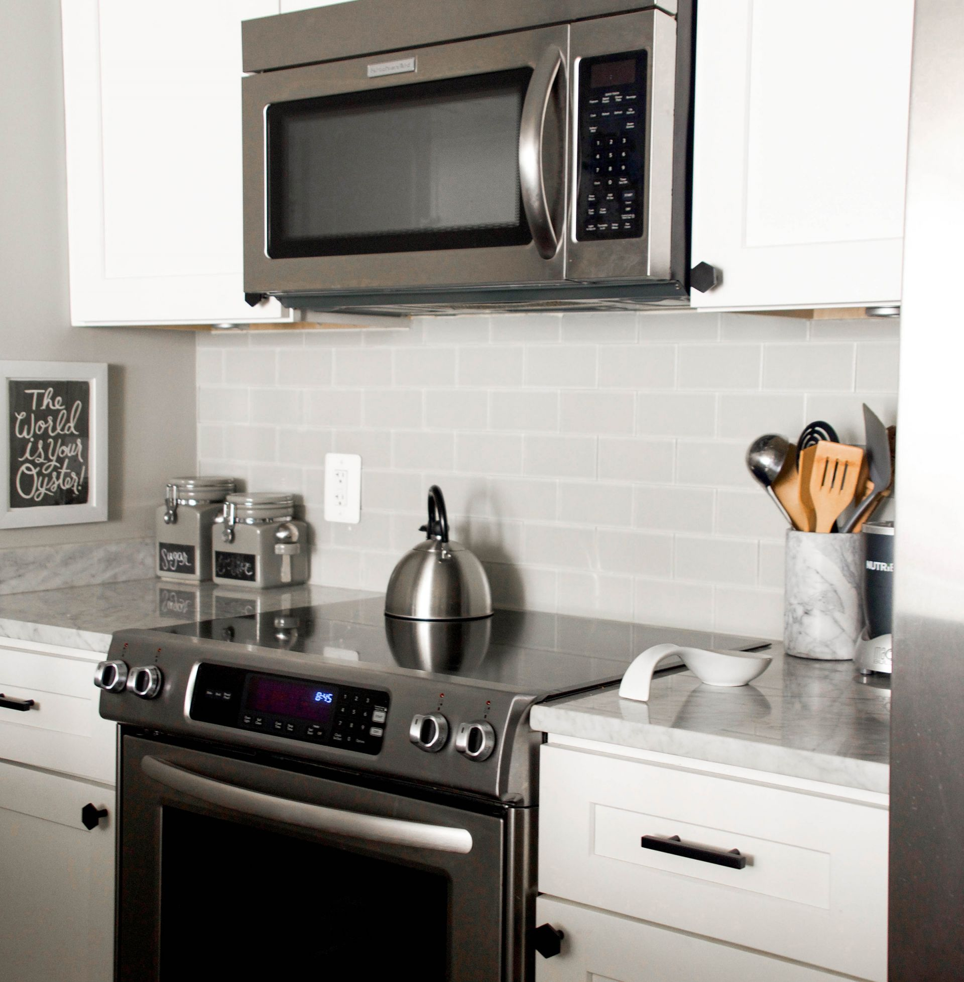 How To Update Black Kitchen Cabinet Hardware And The Vigo Edison Faucet Heather Bien