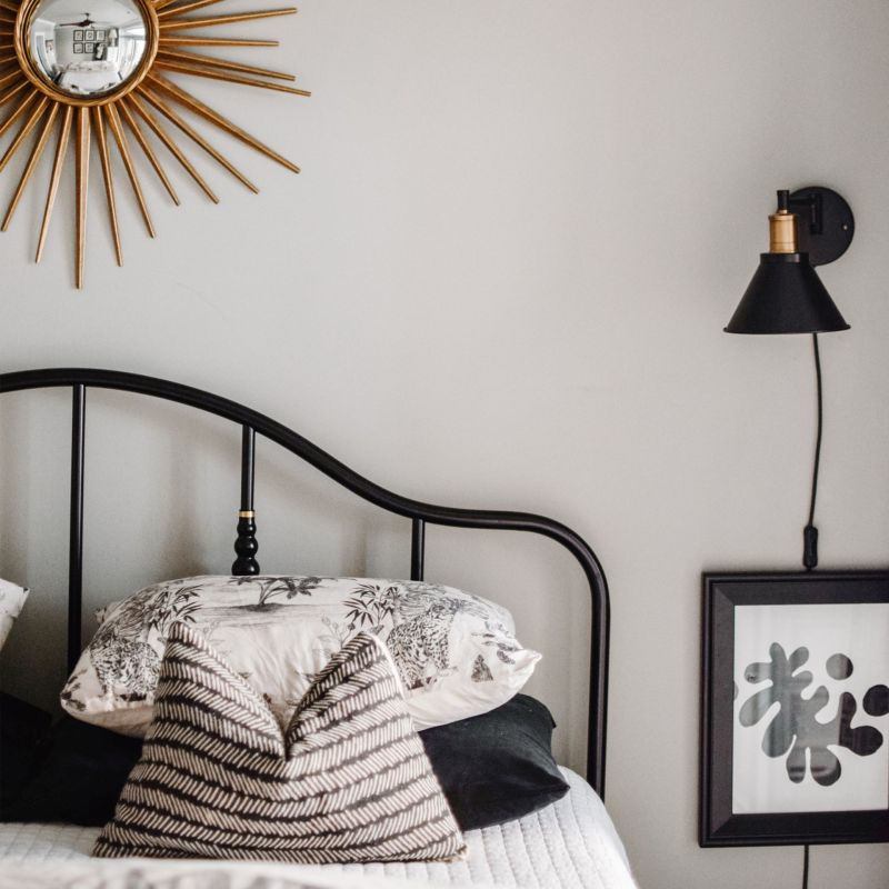 Our New Black Steel Bed + Bedroom Refresh: Ikea Sagstua Bed Review