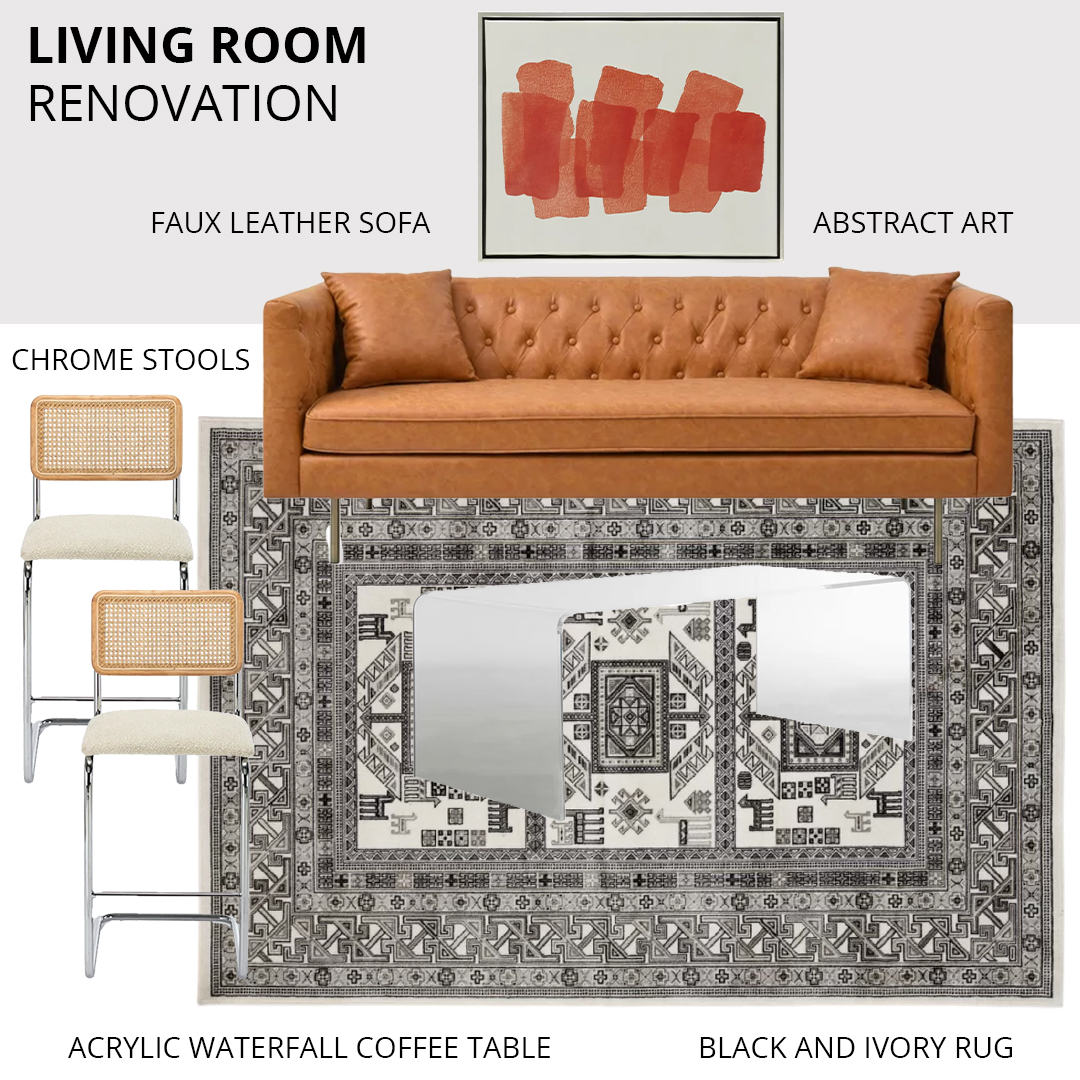 living room renovation with all modern