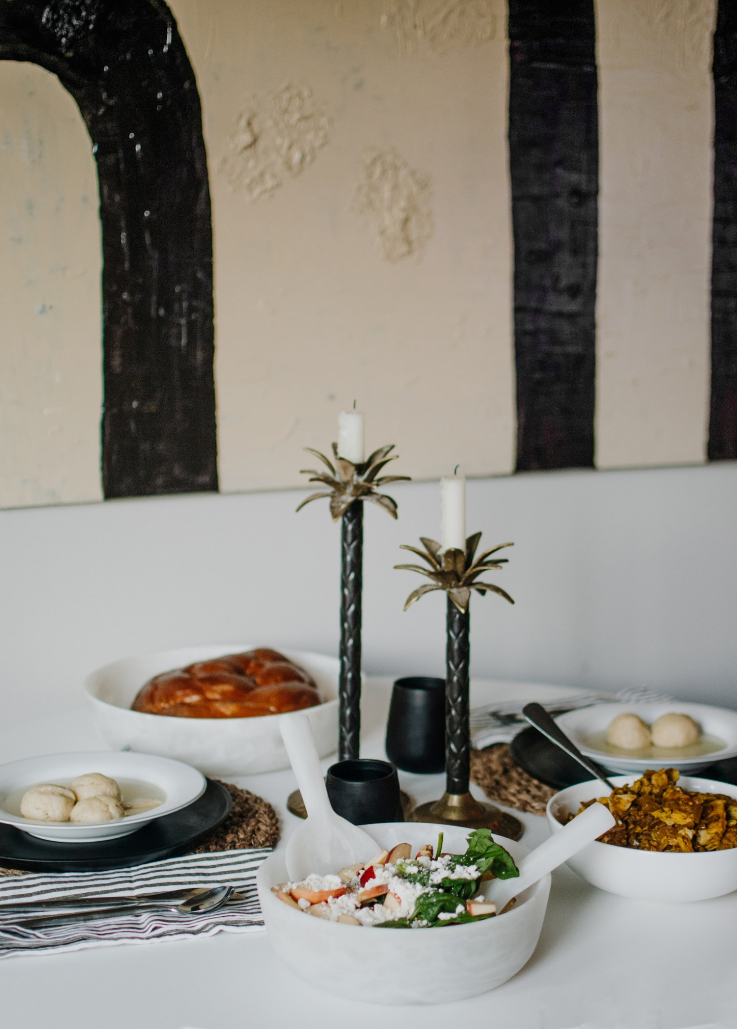resin tablescape - white resin - nashi home resin - nashi home review - rosh hashanah tablescape