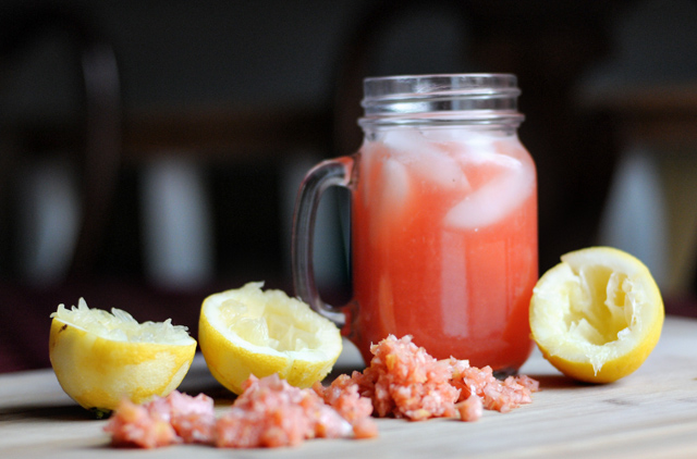 The Ultimate Strawberry Lemonade is made in a blender, and will become one of the most addictive strawberry drinks you'll ever try! @heathersdish