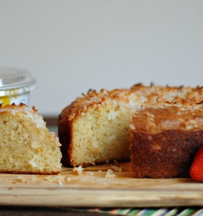 Pineapple Coconut Yogurt Cake
