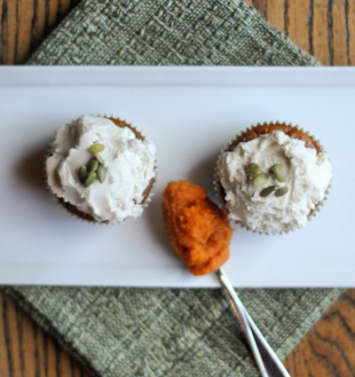 Pumpkin Cupcakes for Two…or One