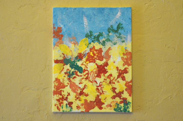 How to DIY:  Fall-Inspired Abstract Leaf Painting