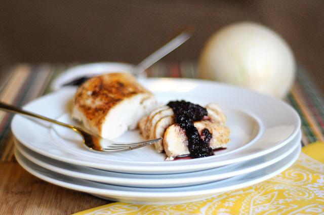 Sweet & Smoky Blueberry Barbeque Sauce from @heathersdish HeathersDish.com