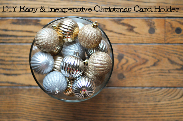 How to DIY: Easy & Inexpensive Christmas Card Holder from @HeathersDish