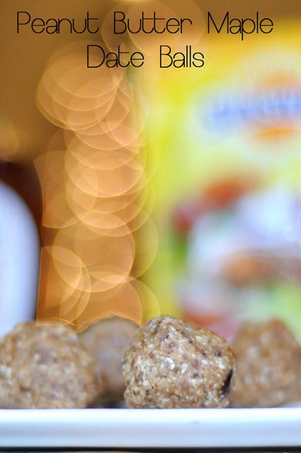 Peanut Butter Maple Date Balls from HeathersDish.com