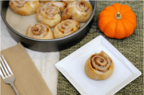 Pumpkin Pie Cinnamon Rolls