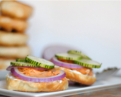 Lox bagels with Herbed Cream Cheese