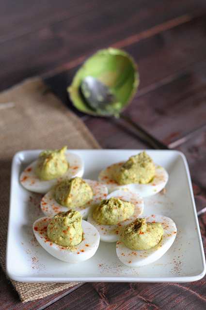 Avocado Deviled Eggs || Heather's Dish