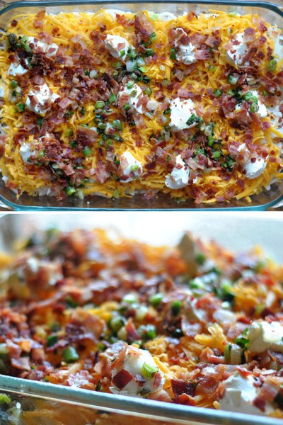 Cheesy Bacon Potato Casserole || Heather's Dish