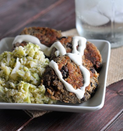 Southwest Salmon and Black Bean Cakes