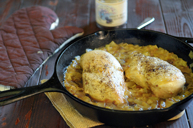 Chicken and Leeks with Spicy Plum Chutney || HeathersDish.com