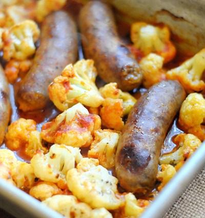Roasted Cauliflower and Italian Sausage